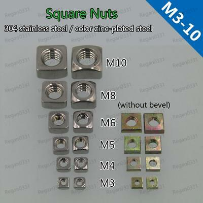 Square Nuts Stainless Steel Square Thin Nuts Color-zinc M3 M4 M5 M6 M8 M10