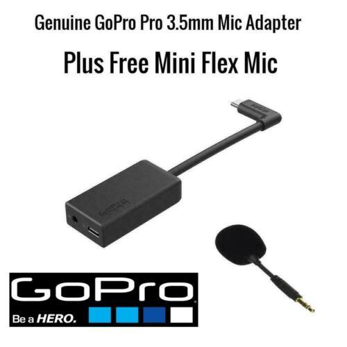 Genuine GoPro Pro 3.5mm Mic Adapter for HERO8 /HERO7 / HERO6 BLACK + ***FREE MIC