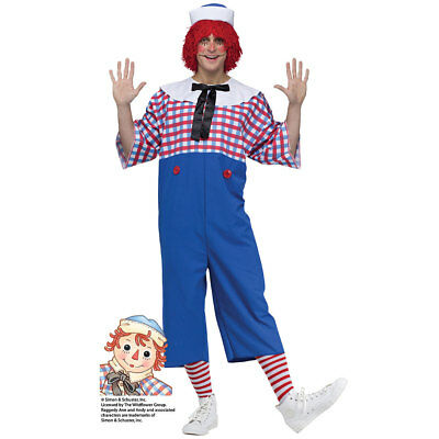 Male Ragdoll Costume (Mens Raggedy Andy Halloween Costume Size)