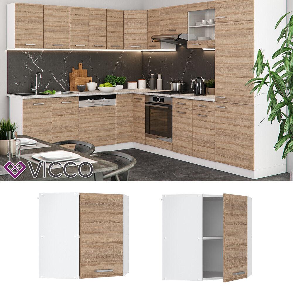VICCO Küchenschrank Hängeschrank Unterschrank Küchenzeile R-Line Eckhängeschrank 57 cm sonoma