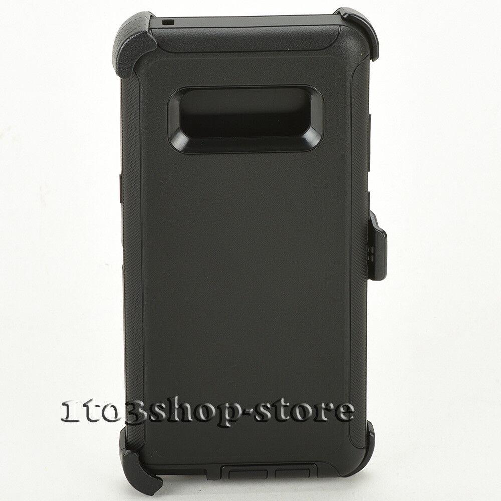 Samsung Galaxy Note 8 Hard Case w/Holster Belt Clip Fits Defender Black