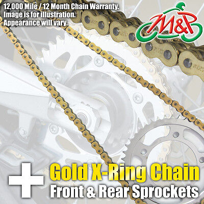 TRIUMPH 675 STREET TRIPLE R 2011 GOLD XRING CHAIN AND SPROCKET KIT
