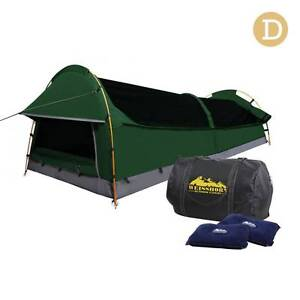 AUS FREE DEL-Double Camping Canvas Swag Tent Green w 2 Air Pillow Sydney City Inner Sydney Preview