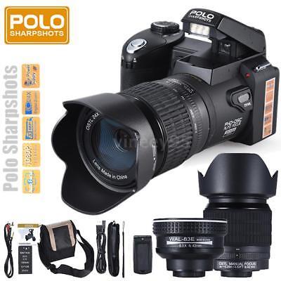 "POLO D7100 ULTRA HD 33MP 3"" LCD 24X ZOOM LED Digital Camera Photo Camcorder DSLR"