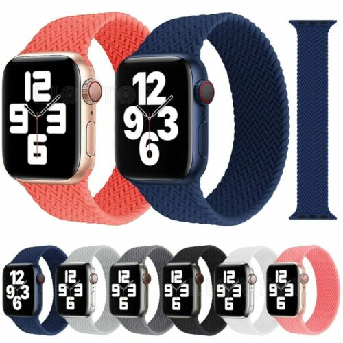 silicone braided solo loop strap for apple