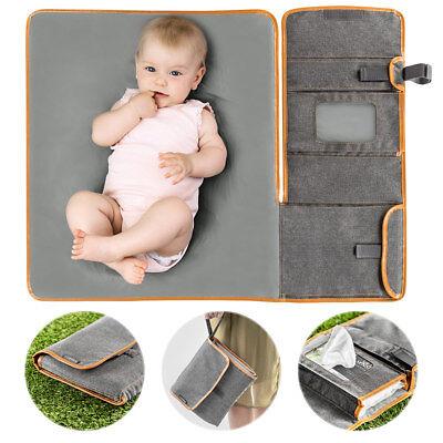 Zamboo Tragbare Baby Wickelunterlage / Wickelauflage für unterwegs Melange Grau