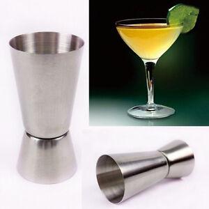 25/50ml Measure Cup Jigger Single Double Shot Short Drink Spirit Cocktail Party