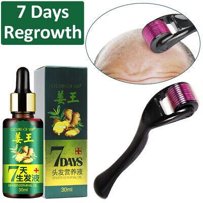 Hair Regrow 7 Day Ginger Germinal Serum Essence Oil Loss Treatement Growth Set ()
