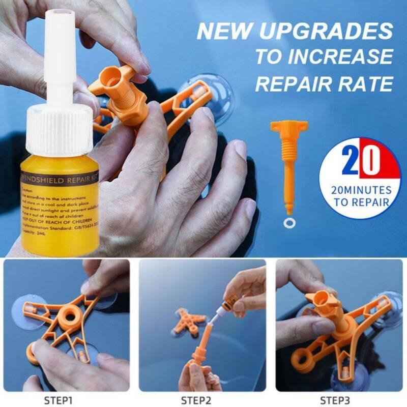 Windscreen Windshield Repair Tool Set  - DIY Car Wind Glass Chip Crack Kit Tool