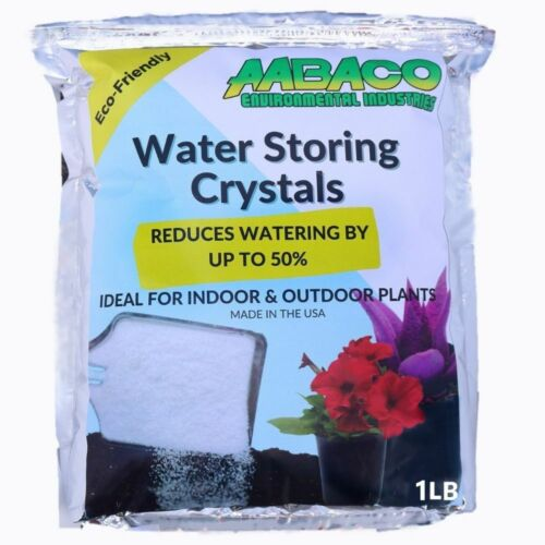 Water Absorbing Polymer Crystals  - Soil Moisture