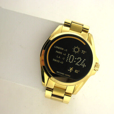 Michael Kors Access Touchscreen MKT5001 Bradshaw Smartwatch Yellow Gold Stnls MK for sale  Shipping to India