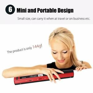 Portable Document Scanner 900 DPI LCD . Support JPG/PDF up to 32GB Free Shipping