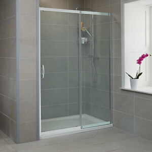 8mm glass sliding shower door enclosure bathroom cubicle for Universal sliding screen door