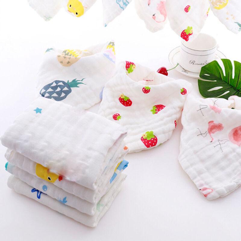 Cotton 6 Layer Waterproof Gauze Kids Towels Baby Bibs Burp C