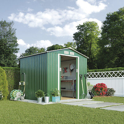 apex metal garden shed 7 x 4ft or 7 x 6ft storage sheds steel frame sliding door