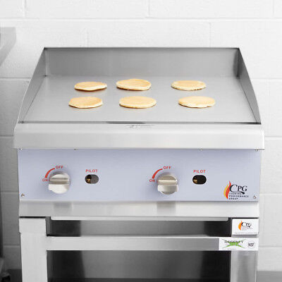 24 Natural Gas Commercial Restaurant Kitchen Countertop Griddle