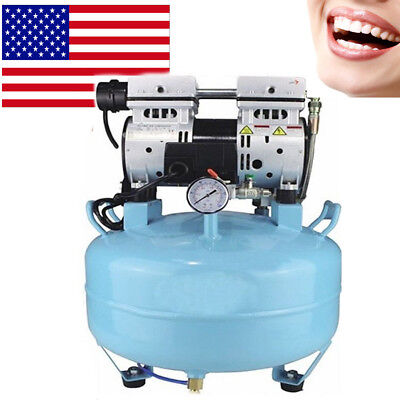 Portable Dental Medical Air Compressor Silent Quietnoiseless Oil Free Oilless Ce