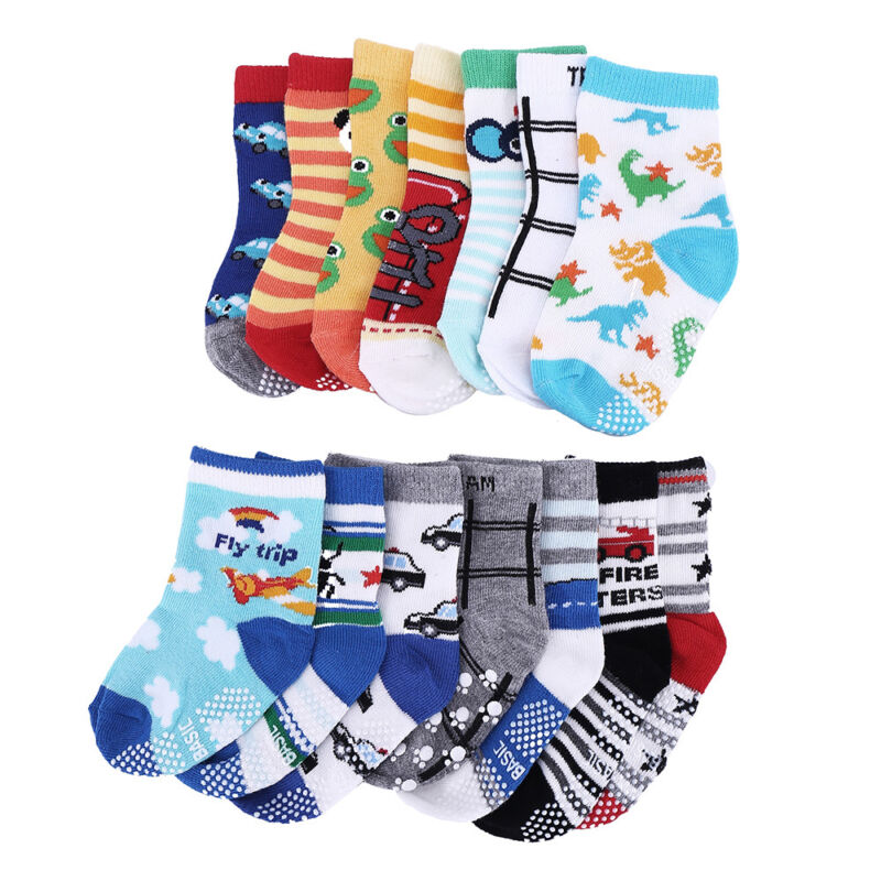 14 Pair Newborn Baby Boy Girl Cartoon Cotton Socks Infant To