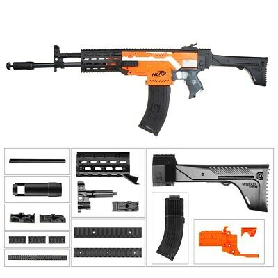 Worker4Nerf AK-12 Style-A Imitation Body Kit for Nerf Stryfe