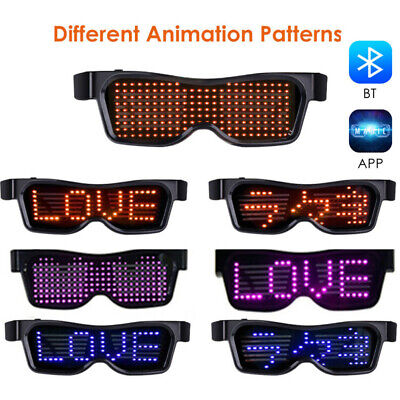 Plastic Glasses For Parties (Magic DIY Flashing Bluetooth LED Glasses for Raves Cosplay Party Club Concert)