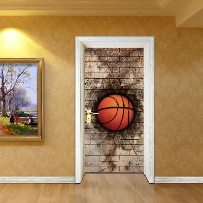 3DBrick Wall Basketball Classic Door Sticker Wall Decals Home Decoration PVC DIY