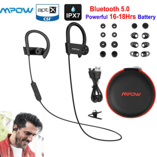 MPOW D9 Bluetooth5.0 Wireless Sport Headset Earbuds IPX7 16H