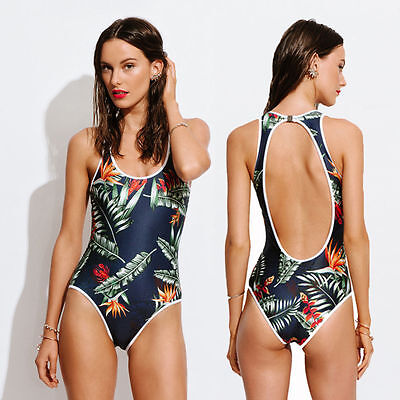 Women One Piece Monokini Swimsuit Swimwear Beachwear Push Up Bathing Suit Bikini - $7.50