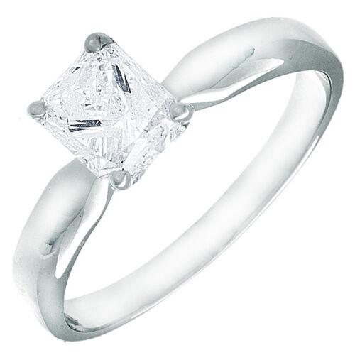 GIA Certified Radiant Cut Diamond Solitaire Engagement Ring 1.00 Carat Platinum