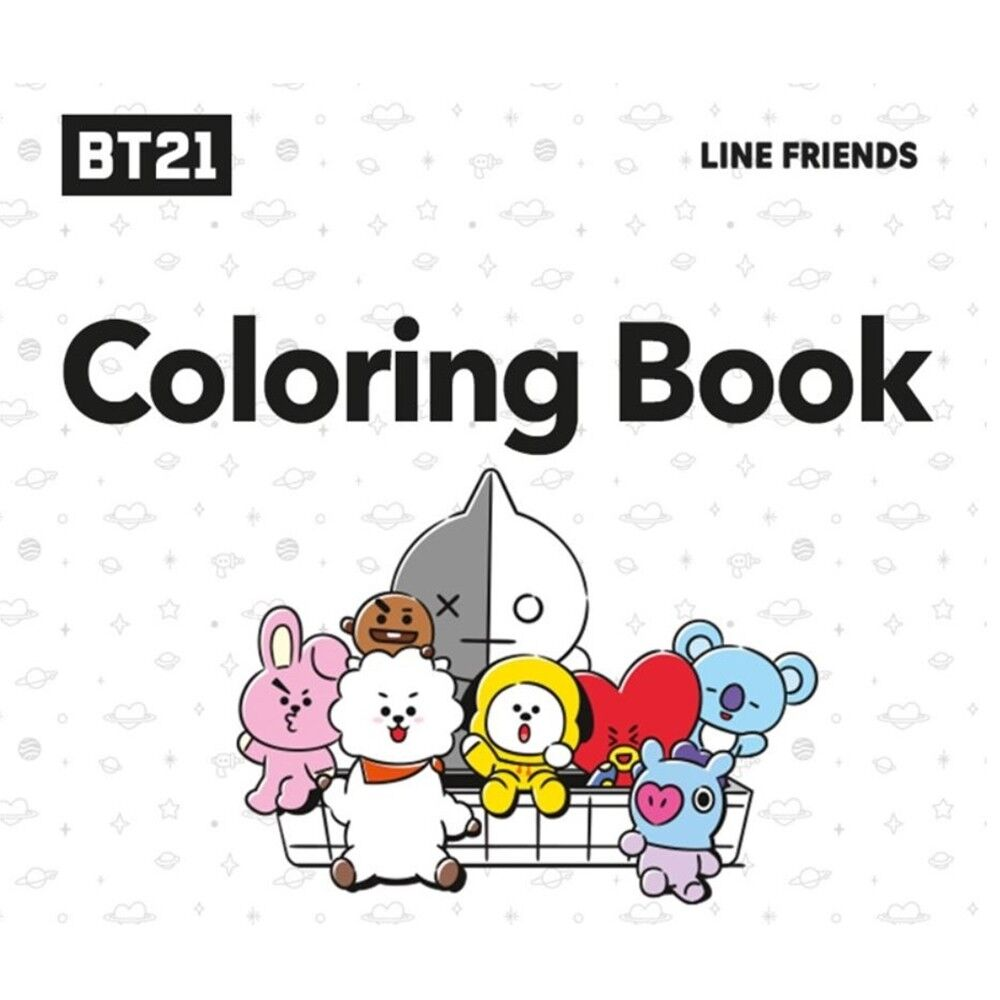 Bts Bt21 Coloring Book New 100 Official Authentic Goods Free