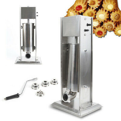 Heavy Duty 5l Stainless Steel Manual 1 Unit Churros Making Machine W 4 Nozzles
