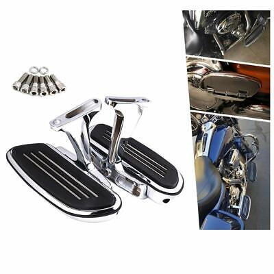 Passenger Floorboard Foot Board Foot Pegs for Touring Road King 1993-2020 Chrome