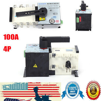 4p100a Dual Power Automatic Transfer Switch Generator Changeover Switch400v New