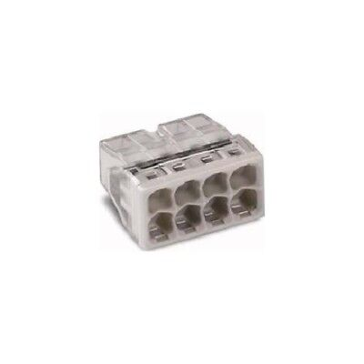 Wago 2273-208 COMPACT-Verbindungsdosenklemme 50 Stück transparent/lichtgrau