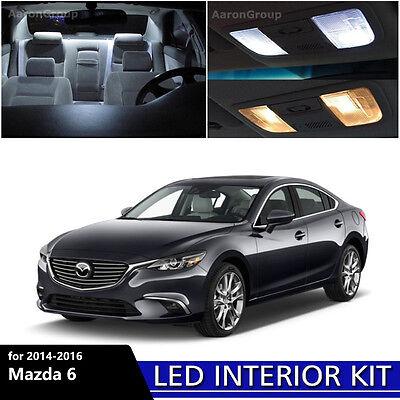 15PCS White Interior LED Light Package Kit for 2014 - 2016 Mazda 6 Mazda6