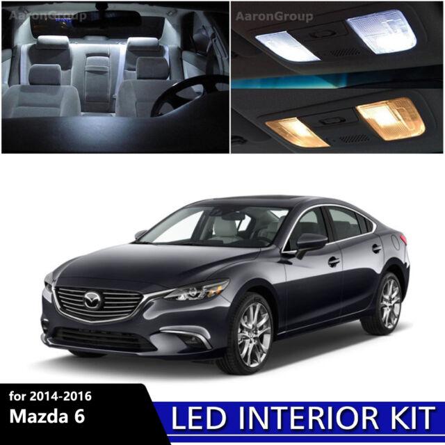 15PCS White Interior LED Light Package Kit For 2014   2016 Mazda 6 Mazda6