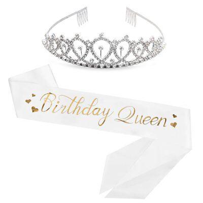 Birthday Queen Sash  Rhinestone Tiara Kit - 15th 16th 17th 18th 21st 22nd 25th](18th Birthday Tiara)