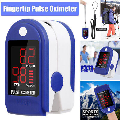 Fingertip Pulse Oximeter Finger Blood Oxygen Saturation Meter Spo2 Monitor Fda