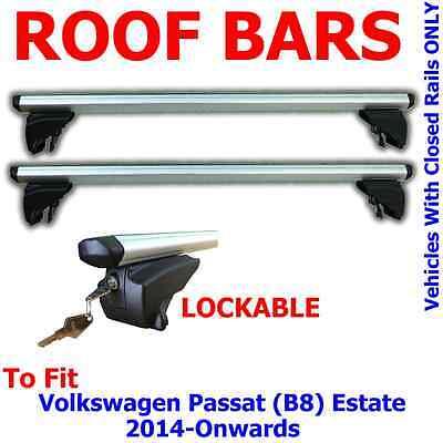 Farad Roof Bars VW Passat B6//7 Estate 05-14 Open Rails Aluminium Aero Lockable