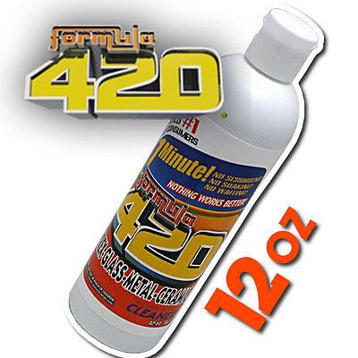 Formula 420 Pipe Cleaner - Pyrex Metal Glass Ceramic - 12 oz - 1 minute - NEW
