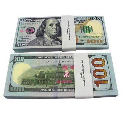 Play Money $10,000 Full Print New Style Movie Prop Copy $100 Dollar Bills Stack