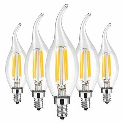 5/10/20x E12 LED Bulb Dimmable Filament Light 2W 4W 6W COB Candelabra Flame Lamp