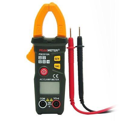 Peakmeter Digital Clamp Meter Multimeter Handheld Rms Acdc Mini Resistance