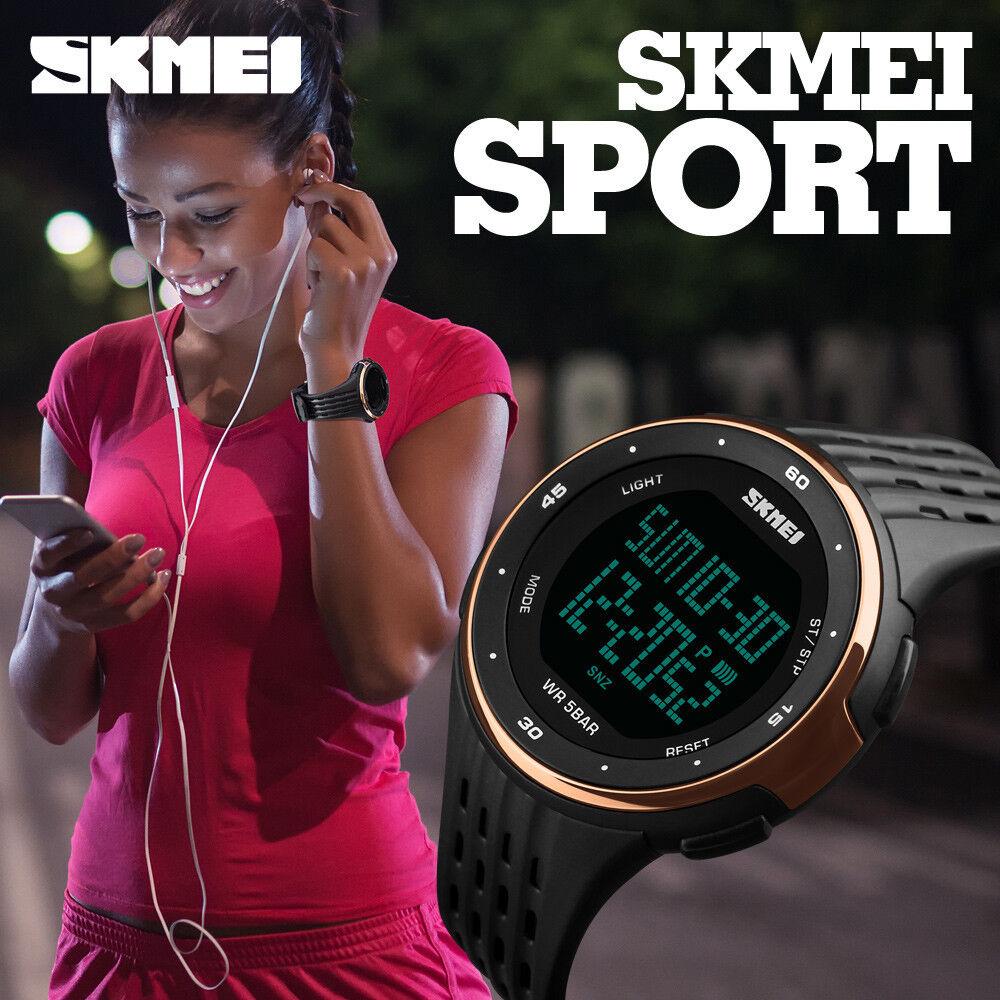 SKMEI Uomo Donna Ragazzo Sport Orologio da polso LED digitale cronometro