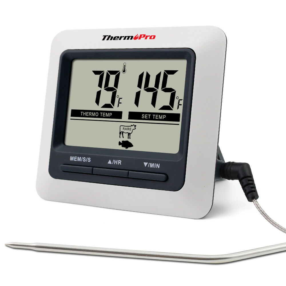 ThermoPro Digital Food Fleisch Kochen Thermometer für BBQ Grill Ofen Smoker