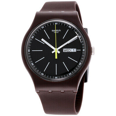 Swatch Originals Quartz Movement Black Dial Men's Watch SUOC704**Open Box**