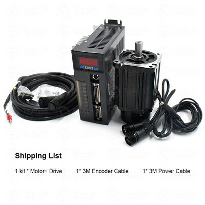 Toauto 750w 2.39nm Ac Servo Motor Servo Driver Kit3m Encoder Cable For Cnc Mill