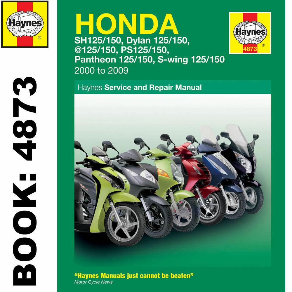Haynes Manual Honda 125cc Scooters 2000-09 Workshop Manual
