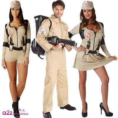 Mens Womens Ghostbusters Costume Official Licensed Halloween Adult Fancy Dress ()