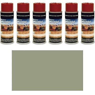Tp240sp Pack Of Six 6 Medium Gray Spray Paint Cans Fits Ford Machines