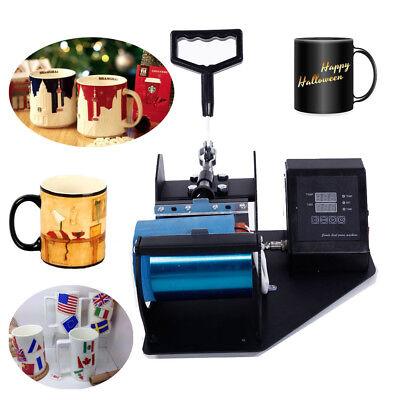 Digital Display Heat Press Transfer Sublimation Machine For Cup Coffee Mug 110v
